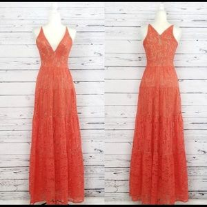 Dress the Population Melina lace maxi dress